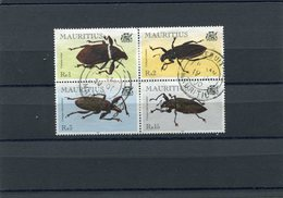 MAURITIUS 2000 BEETLES M.895/898 CTO. - Insecten