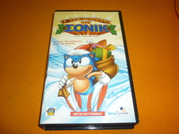 Sonic The Hedgehog Old Greek Vhs Cassette Video Tape From Greece - Cartoons