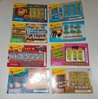 8 Billets De Loterie Instantanée.Portugal - Billets De Loterie