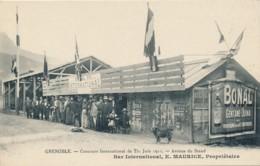 H154 - 38 - GRENOBLE - Isère - Concours International De Tir - Juin 1911 - Bar E. Maurice - Grenoble