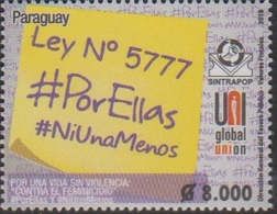 PARAGUAY, 2018, MNH, VIOLENCE AGAINST WOMEN, LAW 5777, 1v - Stamps