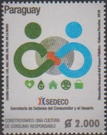 PARAGUAY, 2018, MNH, SEDECO, CONSUMER PROTECTION, 1v - Stamps