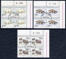 GREENLAND 1995 Mammals III In Used Corner Blocks Of 4.  Michel 274-76 - Greenland