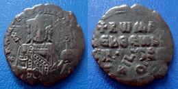 BYZANTINE - FOLLIS ROMANUS I LACAPENUS - Magnifique Frappe Et Surfrappe Sur Follis Ancien - Byzantines