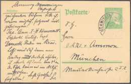 1925 Deutsches Reich - Postkarte Vom Memmingen Nach München Gelaufen (xdr) - Deutschland