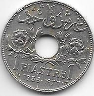 *syria 1 Piastres 1936  Km 71  Xf - Syrie
