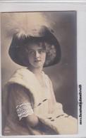 JEUNE FEMME JOVEN DAMA YOUNG LADY SHAPEAU GORRO HAT COLORISE. VINTAGE . R&K. ETUDE PHOTOGRAPHIQUE CIRCA 1910- BLEUP - Fotografie