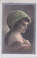 JEUNE FEMME JOVEN DAMA YOUNG LADY  COLORISE. VINTAGE . ETUDE PHOTOGRAPHIQUE CIRCA 1910- BLEUP - Fotografie