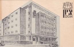 ZION. TARJETA CON PLANO. E BAELI-JOEL CIRCA 1940's.- BLEUP - Jodendom