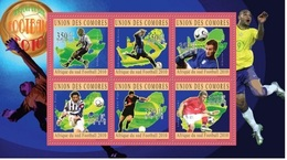 ISOLE COMORE - 2010 South Africa 2010 Football  6v M/s - Serie Cpl. 1 BF Nuovo** Perfetto - Isole Comore (1975-...)