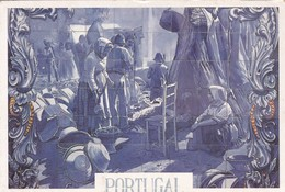 MERCADO DE SANTAREM, PORMENOR DE FEIRA, AZULEJOS. SOFOTO. CIRCA 1990's- BLEUP - Santarem