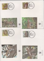 World Wide Fund For Nature 1988 El Salvador Cats Set 4 Official First Day Covers - FDC