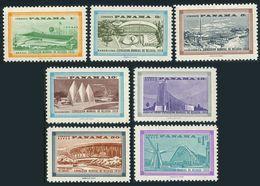 Panama 418-421,C207-C209,hinged.Michel 530-536. EXPO Brussels-1958.Pavilions. - 1958 – Brussels (Belgium)
