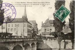 """77 """"L'Aéro-Stable"""" Moreau Frères Survolant MELUN - Cachet """"Fête D'Aviation Ville De Melun 31 Août 1913"""" - Melun"""