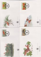 World Wide Fund For Nature 1990 Trinidad And Tobago Ibis Set 4 Official First Day Covers - FDC