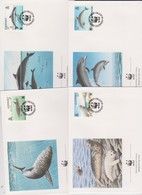 World Wide Fund For Nature 1990 Guernsey Sealife Set 4 Official First Day Covers - FDC