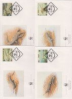 World Wide Fund For Nature 1990 Bangladesh Gariel Set 4 Official First Day Covers - FDC