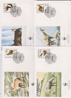 World Wide Fund For Nature 1990 Albania Gariel ,Set 4 Official First Day Covers - FDC