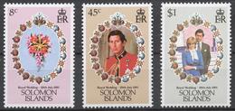 Solomon Islands 1981 Mi# 444-46** ROYAL WEDDING - Salomon (Iles 1978-...)