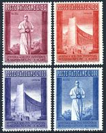 Vatican 239-242,hinged.Michel 288-291. World Fair Brussels-1958.Pope Pius XII. - 1958 – Brussels (Belgium)