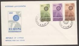1967  Europa Issue Unaddressed FDC - Cyprus (Republic)