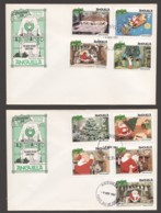 1981  Disney  The Night Before Christmas Set Of 9 Plus Souvenir Sheet On 3 Unaddressed FDCs - Anguilla (1968-...)