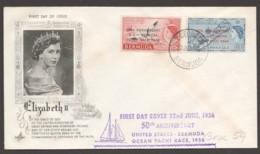 1956  50th Ann. USA-Bermuda Ocean Yatch Race Set On  Unaddressed FDC - Bermudes