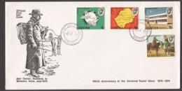 1974  UPU Centenary Complete Set On Single Unaddressed FDC - Lesotho (1966-...)
