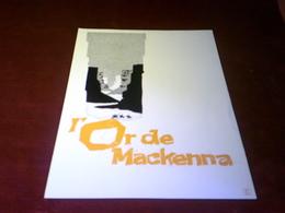 CINEMA  PLV  °° L'OR DE MACKENNA   24 X 30 - Cinema Advertisement