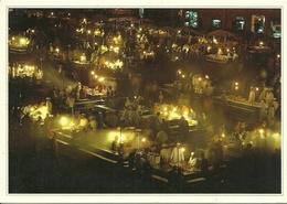 MARRUECOS MARRAKECH PLACE JEMAA EL FNA LE SOIR AÑO 2004 - Marrakesh
