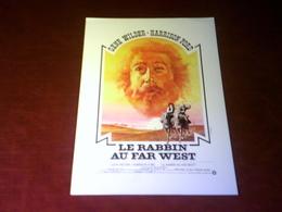 CINEMA  PLV  °° GENE WILDER  HARRISON FORD  LE RABBIN AU FAR WEST  24 X 30 - Cinema Advertisement