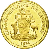 Monnaie, Bahamas, Elizabeth II, Cent, 1974, Franklin Mint, SUP, Laiton, KM:59 - Bahamas