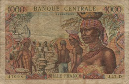 BANQUE CENTRALE ETATS De A E F 1000 FRANCS De 1963nd Pick 5 GABON - Banknotes