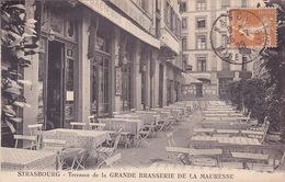 CPA - 67 - STRASBOURG - Terrasse De La Grande Brasserie De La Mauresse - Strasbourg