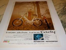 ANCIENNE PUBLICITE CADY DE MOTOBECANE 1969 - Motos