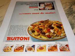ANCIENNE AFFICHE PUBLICITE COUSCOUS DE BUITONI  1969 - Affiches