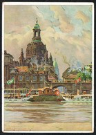 B0466 - Fritz Beckert - Künstlerkarte - Dresden - Blick Auf Dom - Paarmarke Werbung Sparkasse - Dresden