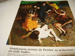 ANCIENNE PUBLICITE PERRIER SA SEDUCTION PETILLE 1969 - Posters