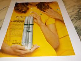 PUBLICITE AFFICHE PARFUM EAU DE SPORT DE JEAN PATOU ET LACOSTE 1969 - Fragrances