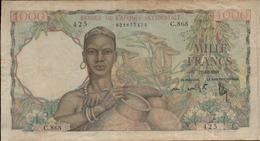 BANQUE DE L AFRIQUE OCCIDENTALE  1000 FRANCS Du 27-12-1948  Pick 42 - Billets