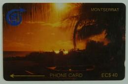 MONTSERRAT - 2CMTD - $40 - MON-2D - Sunset - 1990 - 1500ex - Used - Montserrat