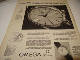 ANCIENNE PUBLICITE MONTRE 30 MM OMEGA 1956 - Jewels & Clocks