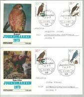 FDC ALEMANIA 1973 - Águilas & Aves De Presa
