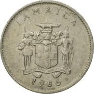 Monnaie, Jamaica, Elizabeth II, 10 Cents, 1986, Franklin Mint, TTB - Jamaique