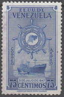 VENEZUELA    SCOTT NO. C265    USED     YEAR  1948 - Venezuela