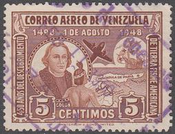 VENEZUELA    SCOTT NO. C278      USED     YEAR  1949 - Venezuela
