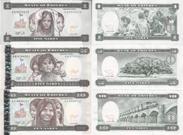 Eritrea 1997 - Set 1+5+10 Nakfa - Pick 1-3 UNC - Erythrée