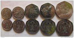 """Sao Thome And Principe Set Of 5 Coins 1997 """"100+250+500+1.000+2.000 Dobras"""" UNC - Sao Tomé E Principe"""