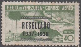 VENEZUELA    SCOTT NO. C68    USED     YEAR  1937 - Venezuela
