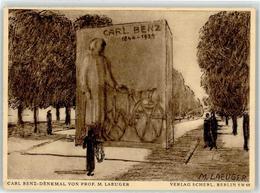 52862514 - Sign. Laeuger, M. Carl Benz-Denkmal Luftpost - Postcards